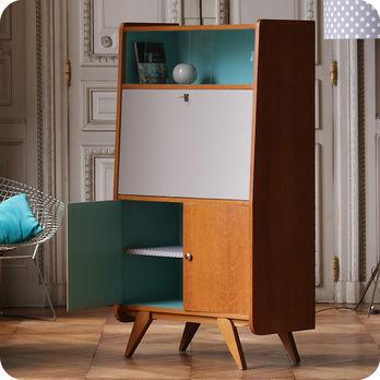 Meubles vintage bureaux tables secr taire ann es 50 fabuleuse factory - Meuble tv annee 50 ...